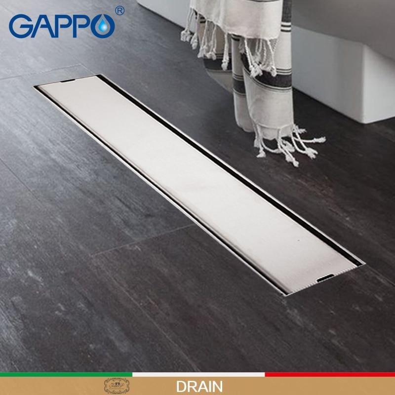 GAPPO Drains Anti-odor Bathroom Shower Floor Drain Bath Drainers Stopper Bathroom Shower Drainers Strainer