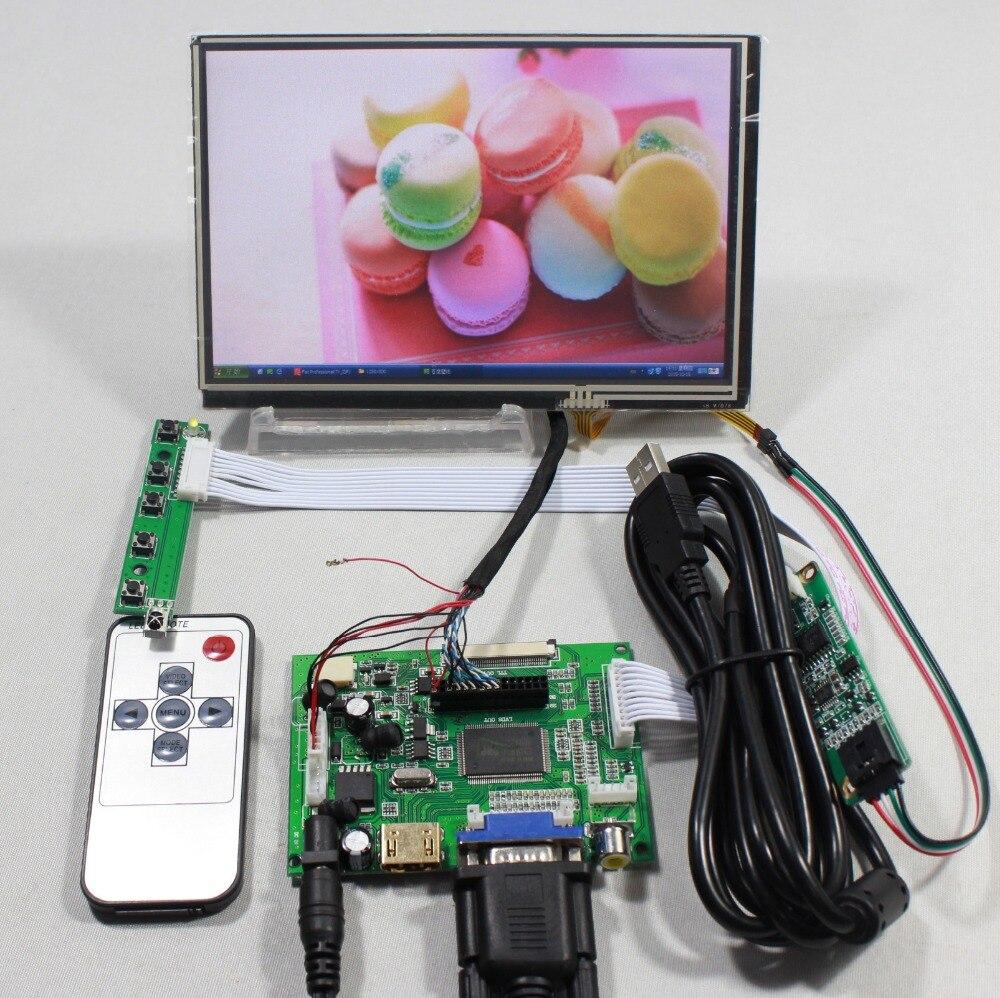 bilder für HDMI VGA 2AV LCD controller board mit 7 zoll N070ICG LD1 39pin Reversal1280x800 IPS touch lcd
