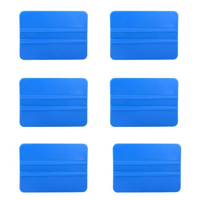 EHDIS 6pcs Carbon Fiber Vinyl Film Wrap Soft Plastic Scraper Window Tint Squeegee Glass Car Cleaning Tool Cleaner Tinting Tools