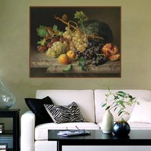 Realist Fruits Still Life Oil Canvas Painting Art Print Picture Christmas Decorations for Home Wall Living Room