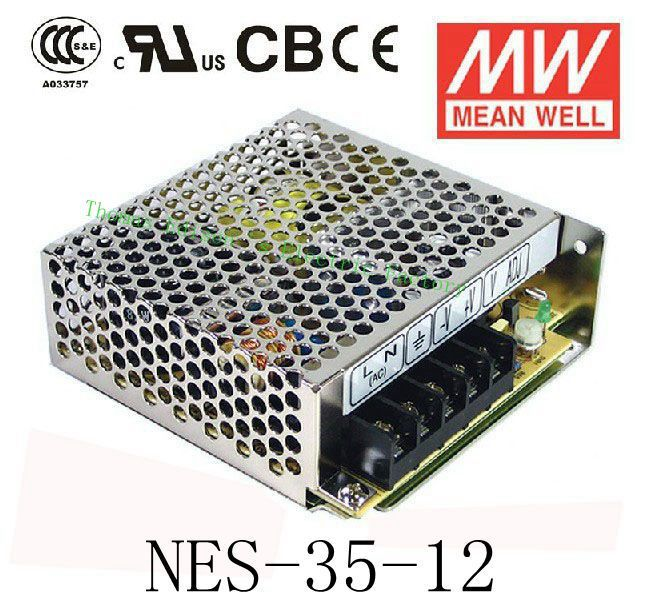 Original MEAN WELL power suply unit ac to dc power supply NES-35-12 35W 12V 3A MEANWELL nes series 12v 35w ul certificated switching power supply 85 264v ac to 12v dc