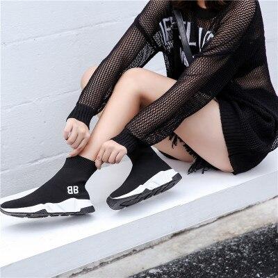 4 5 8 Sauvage 1 2 Tricot 7 3 Marque 12 Mode 9 2018 Bottes 10 Chaussettes 11 Tricotées Chaussures Élastiques Automne De Femmes 6 HID29EWY