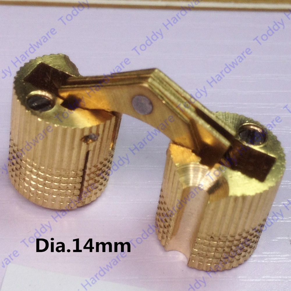 14mm Brass Invisible furniture hinge Hidden Hinges Barrel Hinge 1 pair viborg sus304 stainless steel heavy duty self closing invisible spring closer door hinge invisible hinges jv4 gs58b