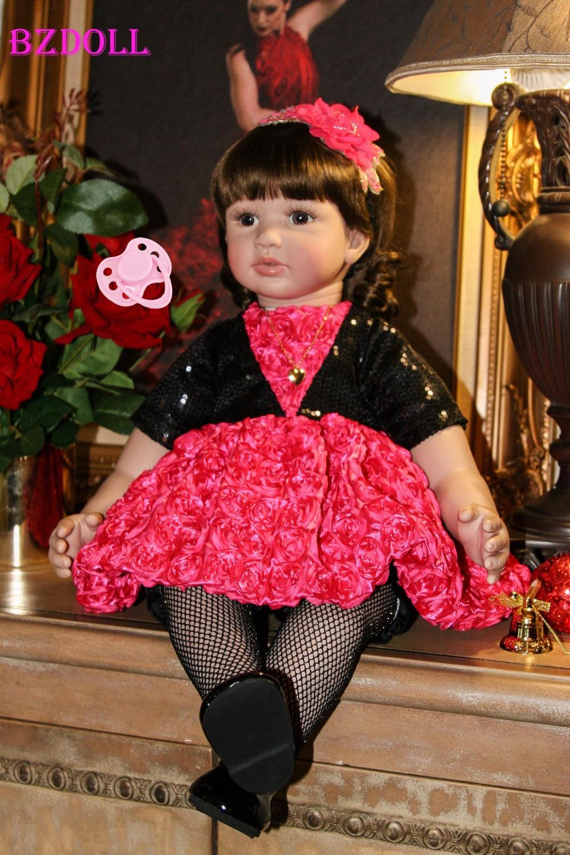 60 cm Silicone Reborn bébé poupée jouet 4 pouces vinyle enfant en bas âge princesse bébés poupée cadeau d'anniversaire filles Bebe poupée Bonecas jouer maison jouet-in Poupées from Jeux et loisirs    1