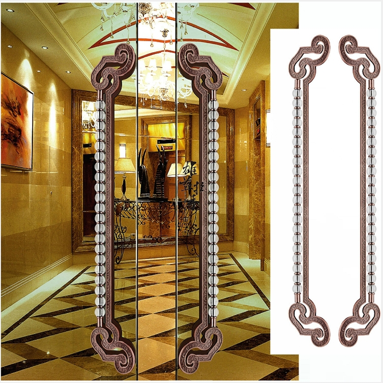 Chinese antique door handle glass door handle modern hotel clubs bronze doors crystal door handles european modern bronze handle chinese antique doors handle circular glass door handle