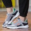 Frete grátis na primavera, outono novos homens sapatos casuais malha respirável sapatos flats marca de moda sapatos de caminhada superstar