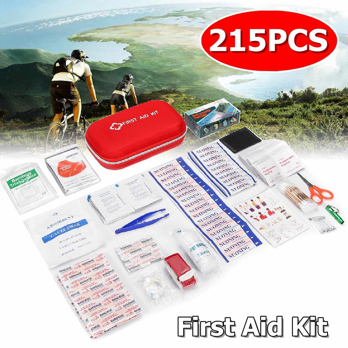 Mini Outdoor First Aid Kit 22 categories 215pcs Portable EMergency Kits Travel Package For Medicines Outdoor Camping Medical Bag|Emergency Kits| |  - title=