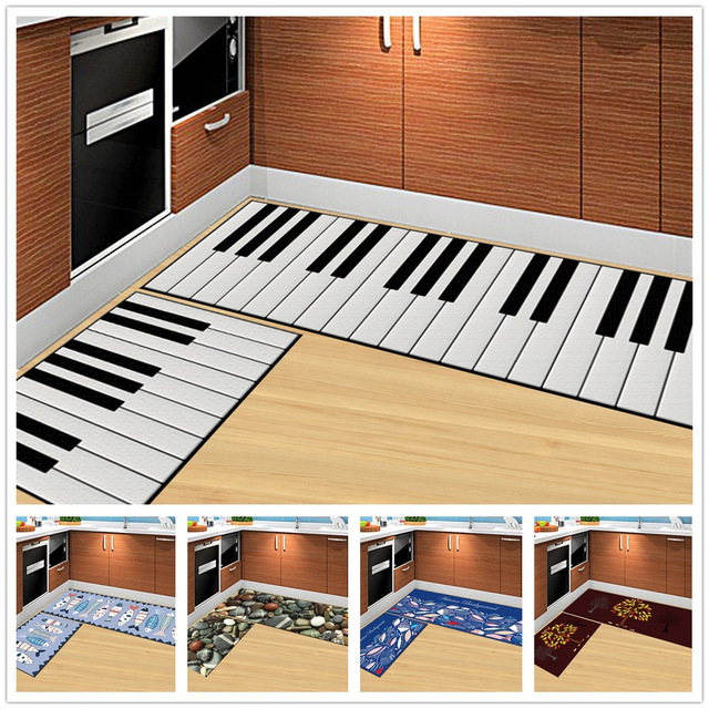 Piano Keys 3D Cartoon Stone Doormat Living Room Carpet Kitchen Rugs Bath Mats Outdoor Children Kids Bedroom Carpet Home Use