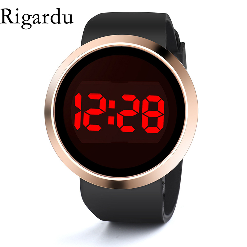 Fashion Men Digital Watch Silicone Band Waterproof Touch Screen LED Watch Date Stopwatch Function Sport Watch Relojes Hombre #25 цена и фото