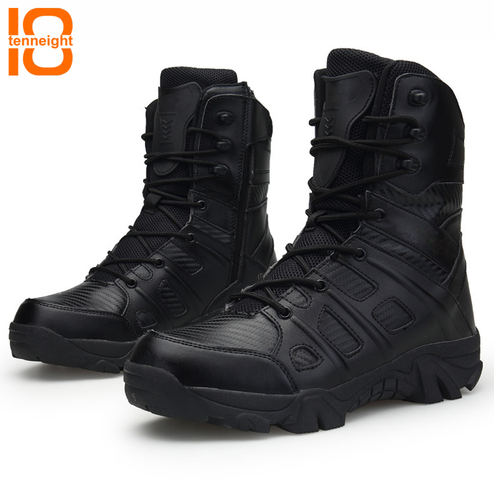TENNEIGHT2018 Outdoor Hiking Shoes Men's Army Desert Boots High-top Military Tactical Boots Men Breathable training combat boots outdoor tactical boots army combat military boots snow training boots men s hunting sports hiking boots desert camouflage shoes