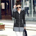 Women Outerwear medium-long Winter Parka Coats 2016 New Fashion Snow Wear Wadded Jacket Female Hooded Down Cotton Slim Warm Coat