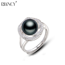 Natural freshwater pearl ring for women 925 silver adjustable ring with pearl fine jewelry mother trendy present girlfriend gift nymph seawater pearl bracelets fine jewelry near round natural pearl bangles for women gold trendy anniversary gift [s308]