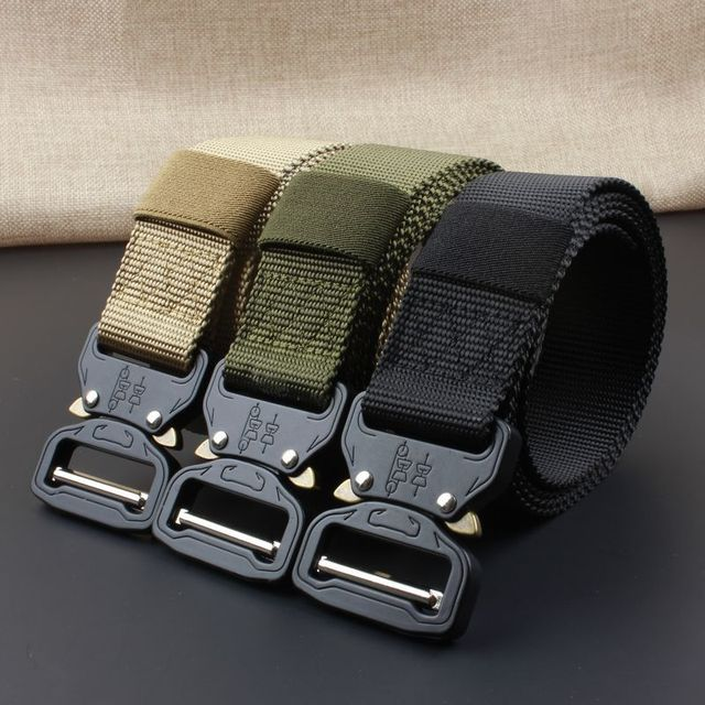 Waist Straps Military Tactical Belt Hunting Training Equipment Safety Zinc Alloy Buckle Combat Tactical Patrol Belt Durability