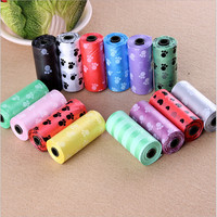 10pcs Biodegradable Pet Waste Poop Bags Dog Puppy For Cat Clean Up Refill Garbage Bag Random