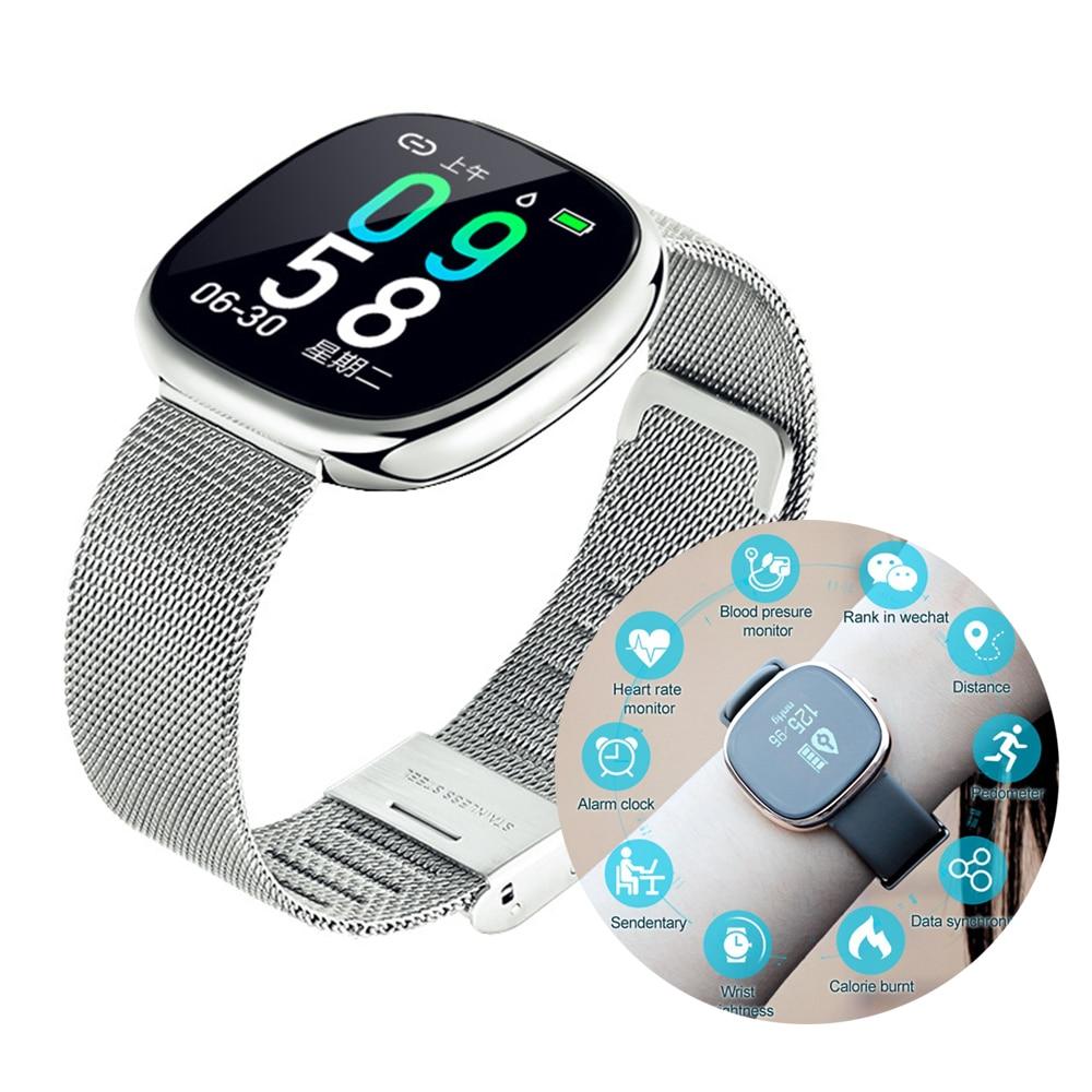 Women Smart Watch tensiometro Blood pressure monitor Heart Rate Sleep Monitor tonometer luxury ladies Smartwatch Gift