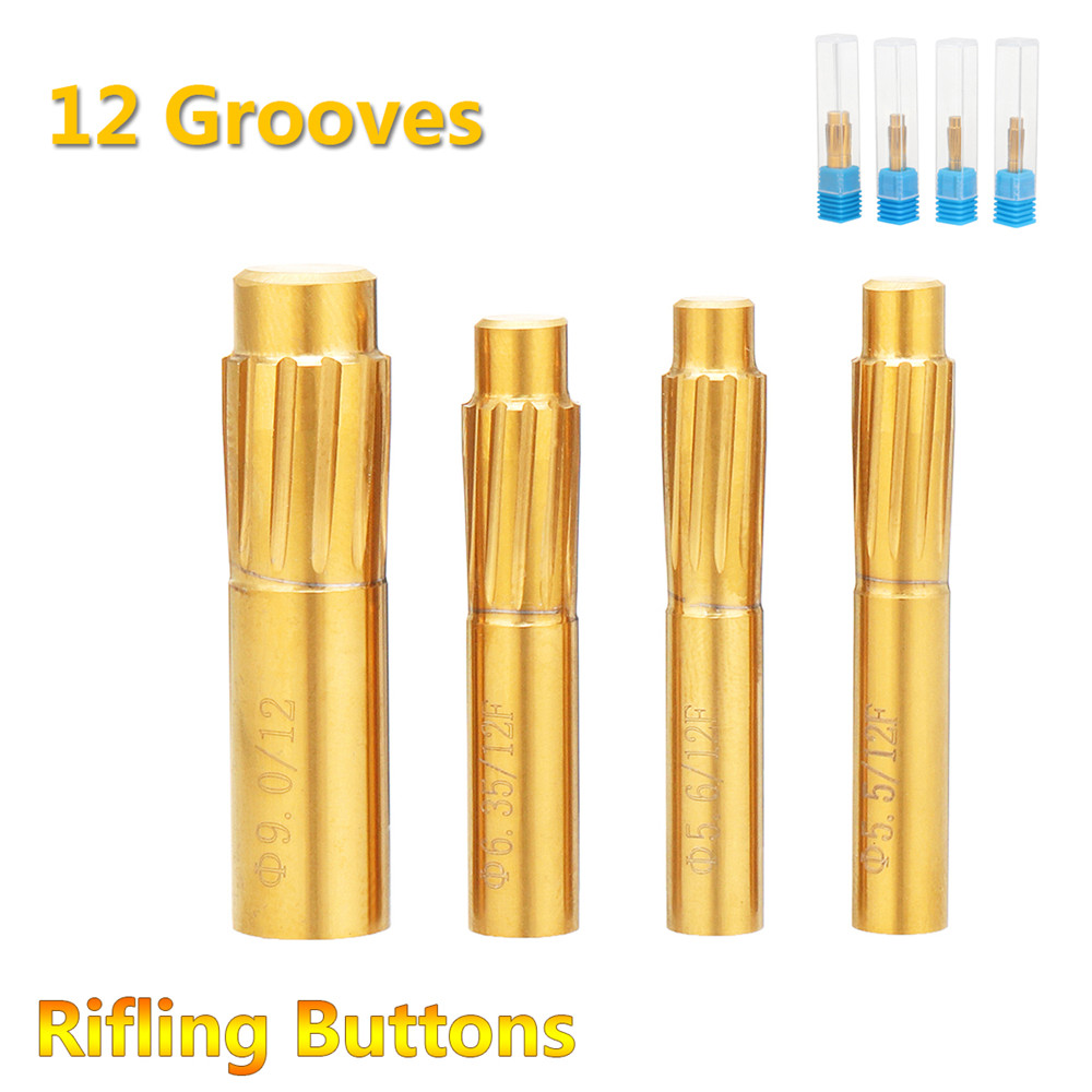 New 5.5mm 5.6mm 6.35mm 9.0mm Rifling Button 12 Flutes Hard Alloy Chamber Helical Machine Reamer Break Tool Accessories Durable