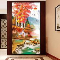 DIY 5D Diamond Mosaic Diamond Painting Cross Stitch Set Diamond Embroidery Home Decoration Maple Landscape Gifts