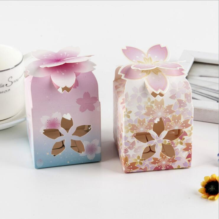 Individuality Originality Wedding Party Favors Candy Box  Hollowed Petal Packing Box Baby Shown Party Supplies Gift Box Bag