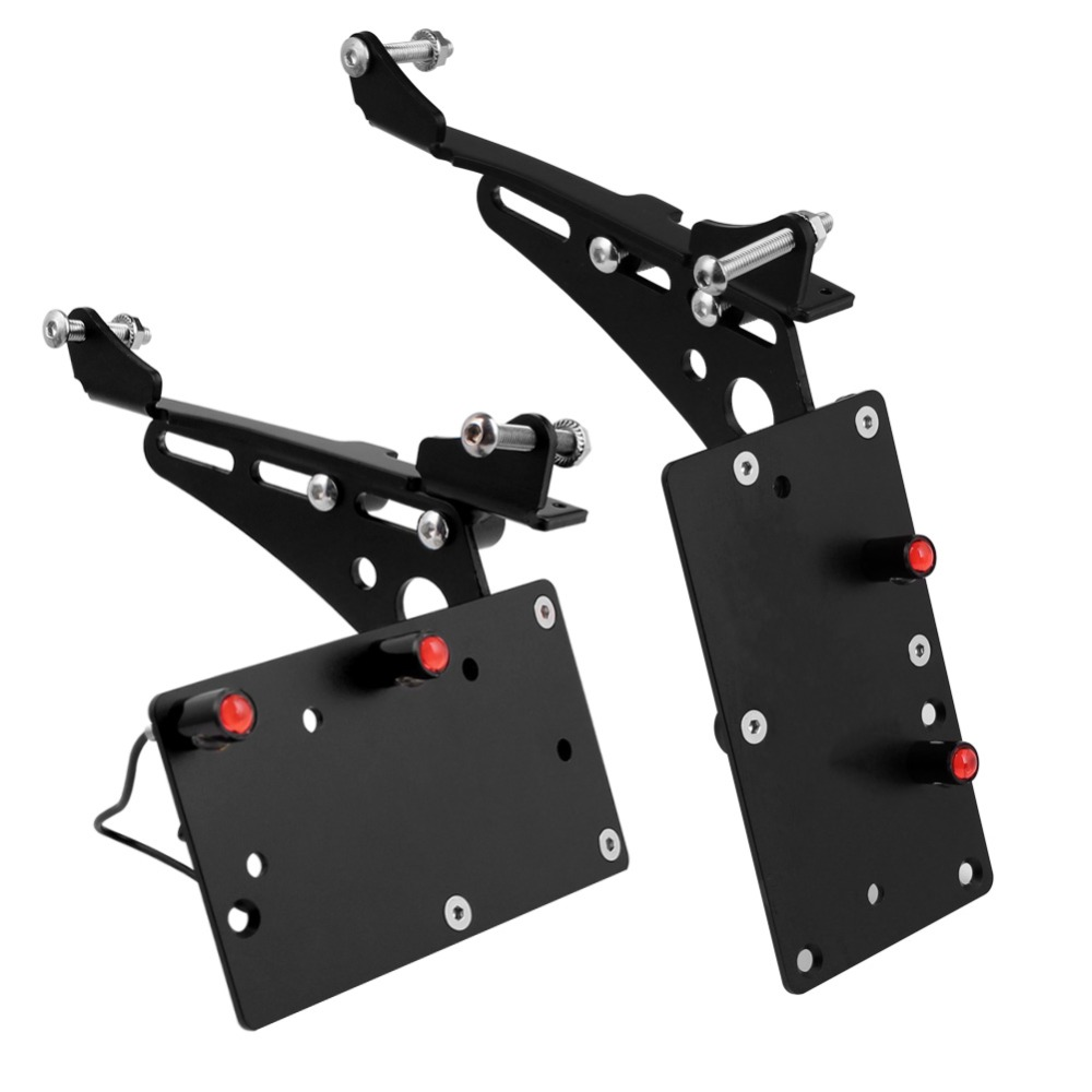 Motorcycle Tail Light Side Mount License Plate Bracket Fits For Harley Chopper Bobber Sportster Iron 883 1200 XL883 XL1200 72 48