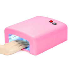 Professional 36W Nail Art Dryer Gel Curing UV Lamp, Nail Dryer with 4pcs 9W UV Bulbs Plug Nail Dryer Art DIY Tools Led Lamp