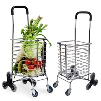 Top Selling Aluminium Alloy Frame Shopping Bags Shopping Trolley Folding Shopping Bag Supermarket Handcart Toys For