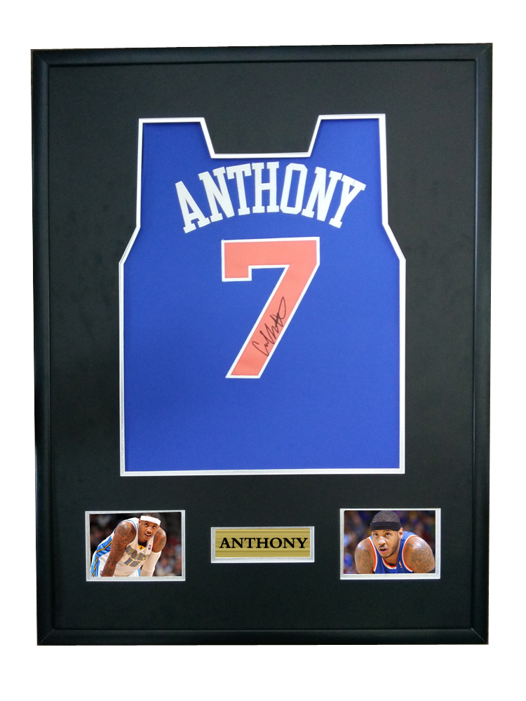 more photos a425c 6c2e0 Carmelo Anthony signed autographed basketball shirt jersey come with Sa coa  framed New York Knicks-in Frame from Home & Garden on Aliexpress.com | ...