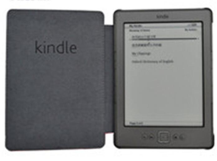 """1PC Leather Cover Case for Amazon Kindle 4/5 E-book Reader 6"""" Inch (not fit for kindle touch)-5"""