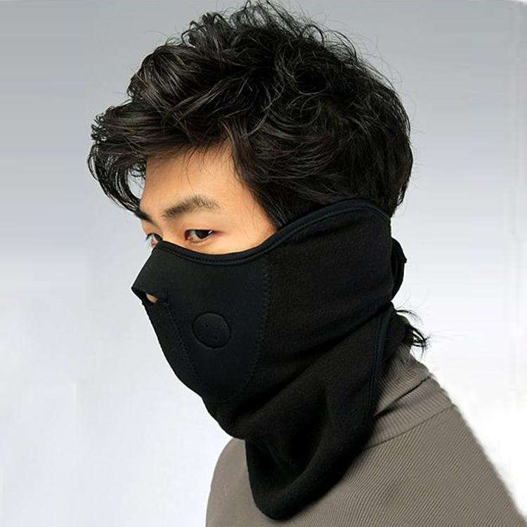 6Pcs/Lot Thermal Fleece Half Face Mask Mask Windproof Headwear Motorcycle Face Mask Winter Snowboard Scarf skull style half face mask old silvery