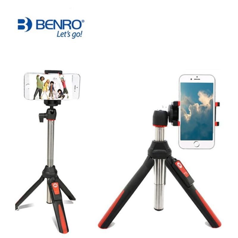 NEUE BENRO mini Stativ Tragbare Selbstporträt Telefon Selfie Stick mit drahtlose Bluetooth-fernauslöser für smartphone und Gopro