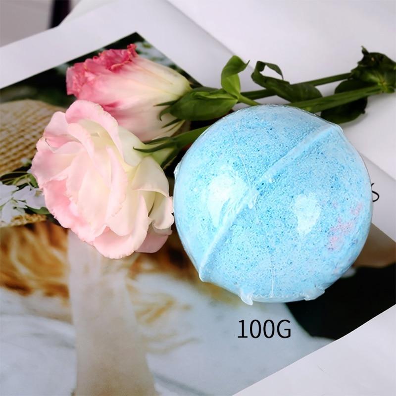 1 Pcs Spa Bubble Bathroom Bath Ball Bomb Aromatherapy Type Body Cleaner Handmade Bath Salt Gift Random Color