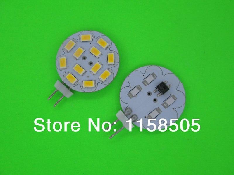 Hot 5pcs DC12V G4 5730 12 epistar solar lustre SMD 5630 LED Crystal Light Warm white/ white 4W 400 highLumen ( Free Shipping )