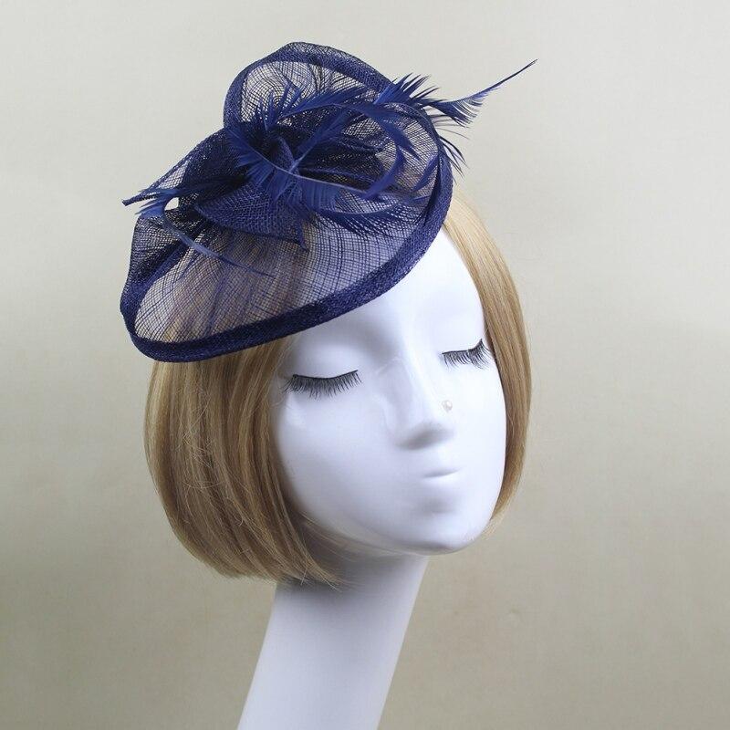 Women Hair Clip Headband Feather Fascinator Wedding Party Hair Accessary