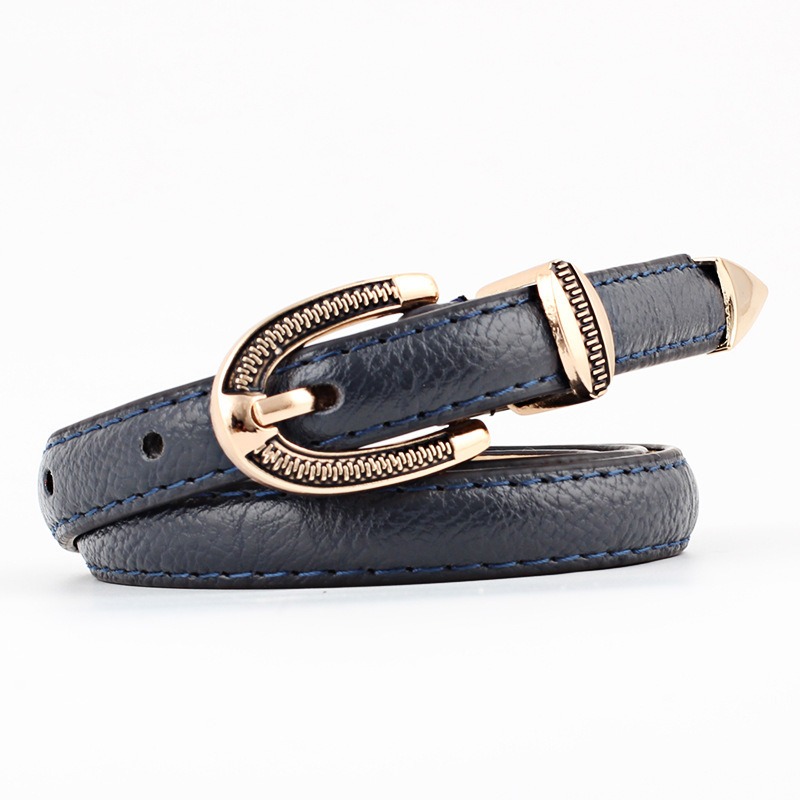 Women Faux Leather   Belts   Candy Color Thin Skinny Waistband Adjustable   Belt   Female Straps Waistband For Apparel Accessories