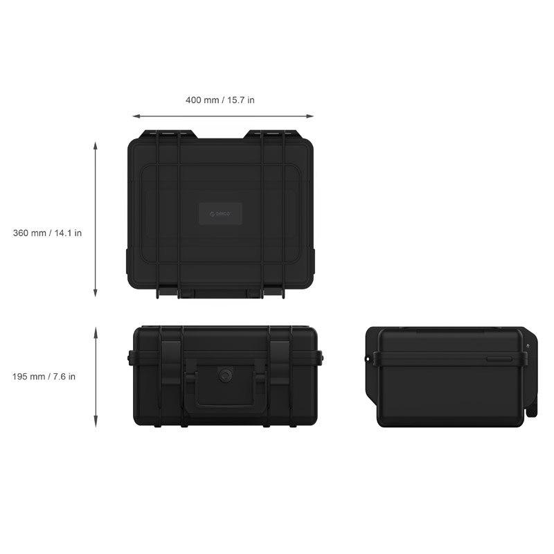 ORICO 20 bay 3.5 pouces Disque Dur Protection Cas imperméable à L'eau + anti-Choc + anti-Poussière fonction verrou de sécurité et Snap Conception - 5