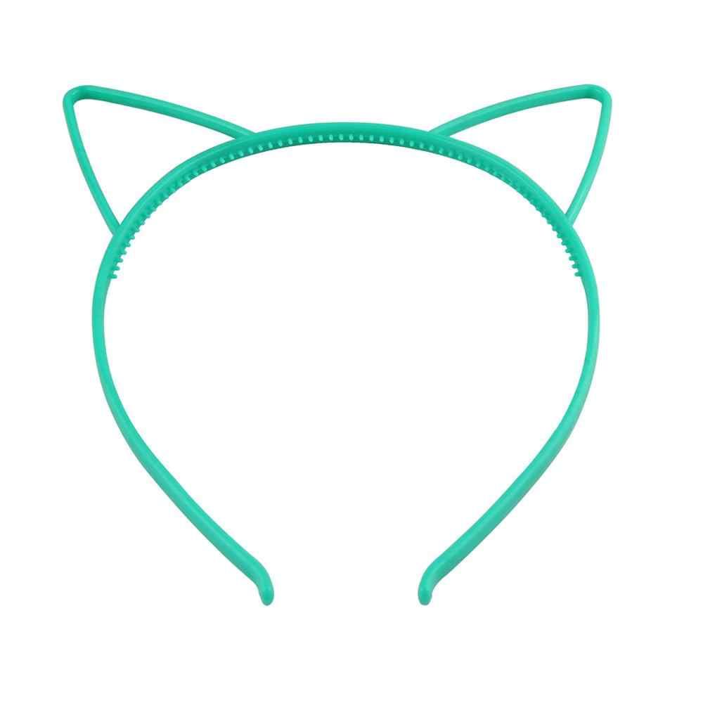เด็กน่ารักการ์ตูนชี้แมวหู Headband หวานลูกอมสี Hollow Out ผมพลาสติก Hoop Anti-Skid Princess Party headwear