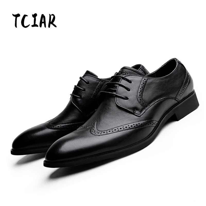Desai Autumn New Arrival Classic Mens Carve Flower Bullock style Shoes Genuine Leather Business British Casual Shoes Man DS0119 mens women golf shoes genuine leather shoes british style waterproof breathable free shipping