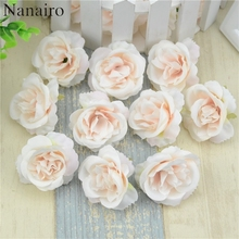 10pcs/lot Mini Artificial Flowers Silk Roses Heads For Wedding Decoration Party Fake Scrapbooking Floral Wreath Home Accessories