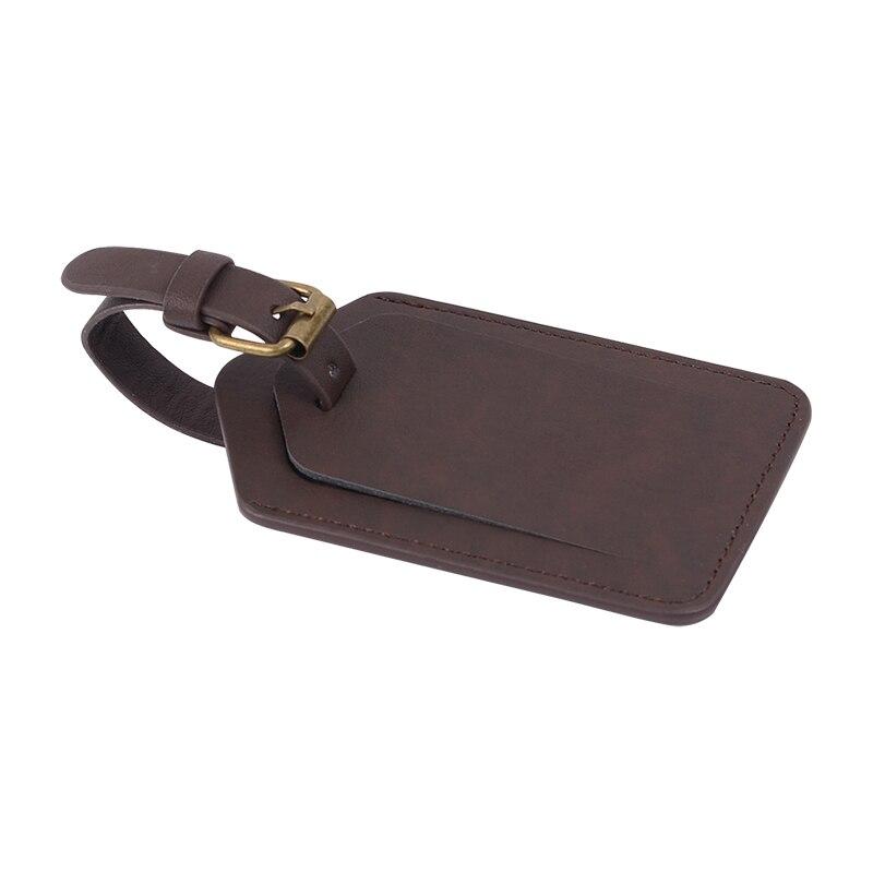 ONLVAN Чемодан бирку кожа Туристические товары Сумка Этикетки чемодан Теги с Бизнес карты путешествий питания тег с ID Card