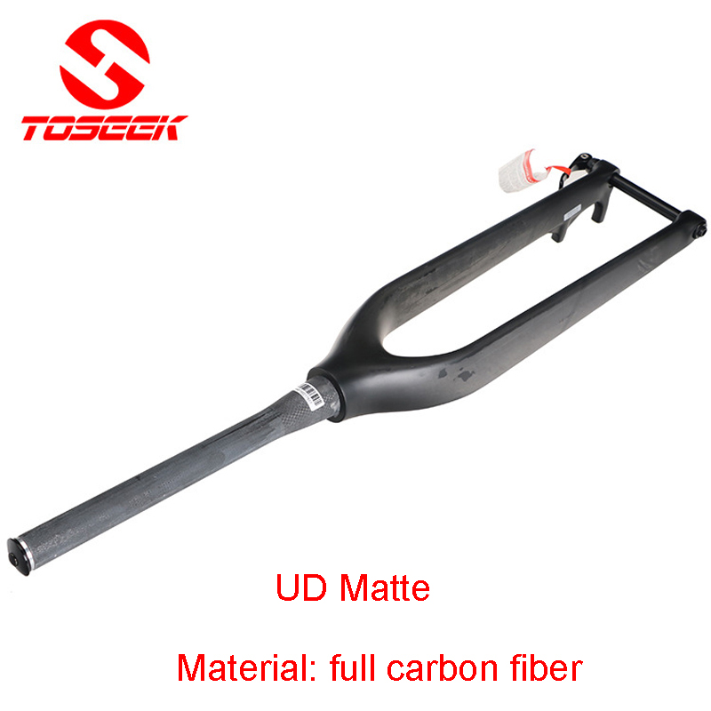 New Style Full Carbon Fiber Bicycle Fork Mountain Bike Fork MTB 29er Tapered Thru Axle UD Matte Bike parts Black full carbon tapered road bike carbon fork ud weave bicycle parts for 700c highway tire bicicleta parts free shipping