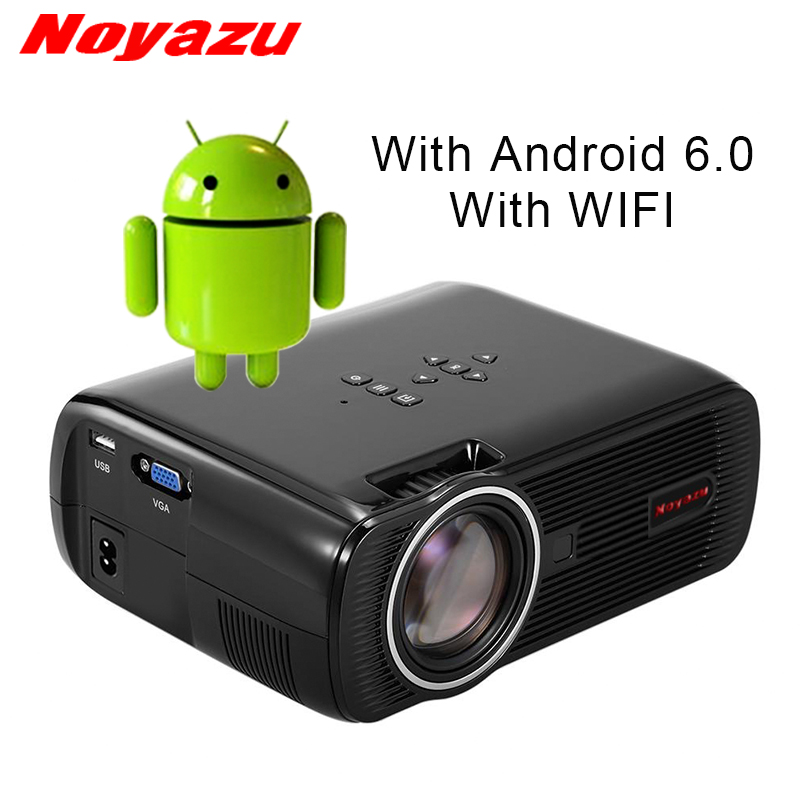NOYAZU New BL80 Smart Android 6.0 WIFI Portable HD LED TV Projector 3D for home theater LCD projector video projector beamer wzatco 5500lumen android smart wifi 1080p full hd led lcd 3d video dvbt tv projector portable multimedia home cinema beamer