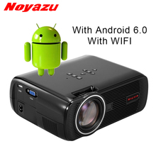 NOYAZU New BL80 Smart Android 6.0 WIFI Portable HD LED TV Projector 3D for home theater LCD projector video projector beamer