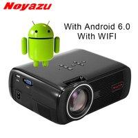 Noyazu Новый BL80 Smart Android 6,0 WI FI Портативный HD светодио дный ТВ проектор 3D для домашнего кинотеатра ЖК дисплей проектор видеопроектор проектор