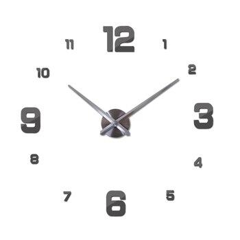 New Wall Clock Clocks Watch Horloge Murale Diy 3d Acrylic Mirror sticker Large Home Quartz Circular Needle Modern Free Shipping 12
