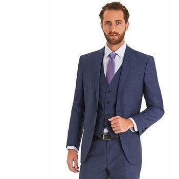 mens slim fit suits Wedding Suits For Men Lapel Groomsmen Tuxedos Mens Suits Slim Fit Groomsmen Suit (Jacket+Pants+Vest)