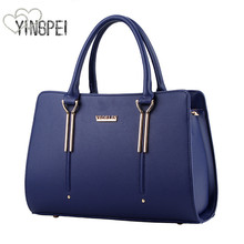 Women Bag Vintage Handbag Casual Tote Fashion Women Messenger Bags Shoulder Top-Handle Purse Wallet Leather 2019 New Black Blue недорого