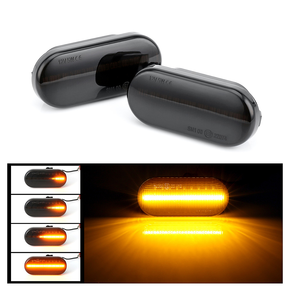 Luz Led Intermitente Led Para Coche Marcador Lateral Dinámico Led Luz De Giro Luz ámbar Humo Led Intermitente Para