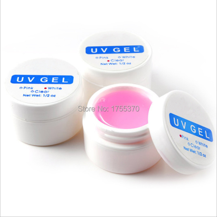 1 UNIDS X Rosa Blanco Claro Transparente 3 Opciones de Color UV Gel Builder Nail Art Tips Gel Nail Manicure Extension