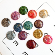 hot deal buy flat round inlaid gold foil accessories diy resin accessories sequins for children's hair accessories diy earrings accessories