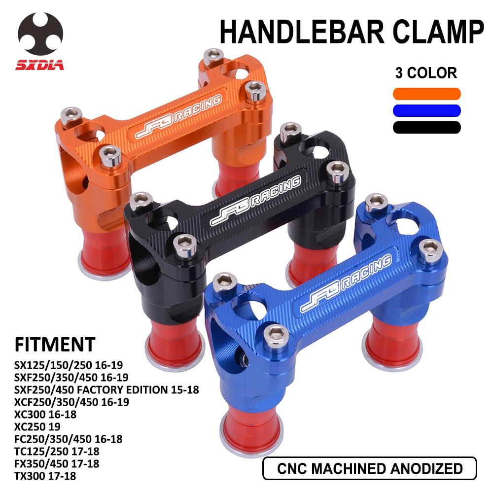 Motorcycle CNC HandleBar Riser Mount Clamp For KTM KTM SX SXF XCF XC Husqvarna FC TC FX TX 125 150 250 350 450