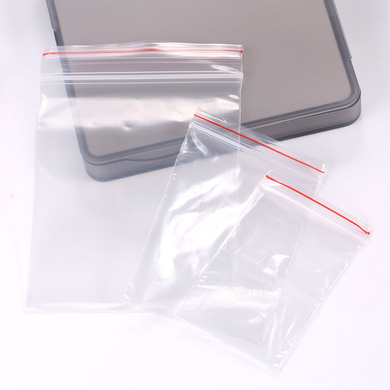 250PCS Transparent Plastic Zipped Lock Bags For Birthday Wedding Decoration Cookie Gift Candy Reclosable PE Packing Bags